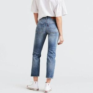 Levi's Jeans - Levi's 501 Wedgie Cropped Selvedge Jeans Big E